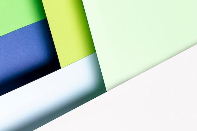 Primo piano del modello di colori freddi piatti laici