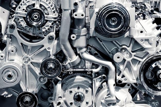 Primo piano del motore a gas