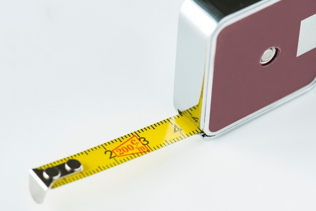 Primo piano del nastro di misurazione