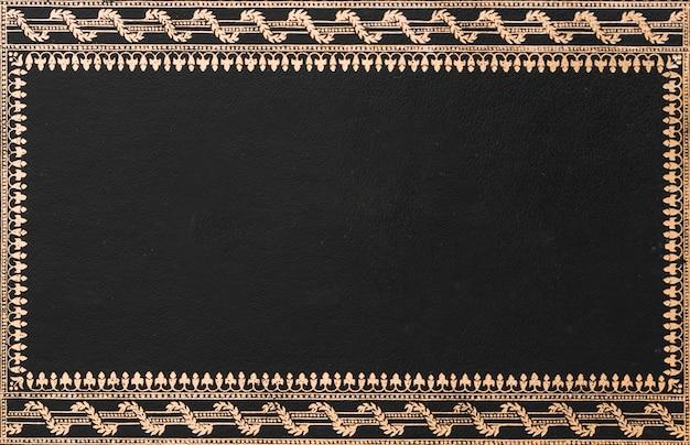 Primo piano del telaio nero decorativo