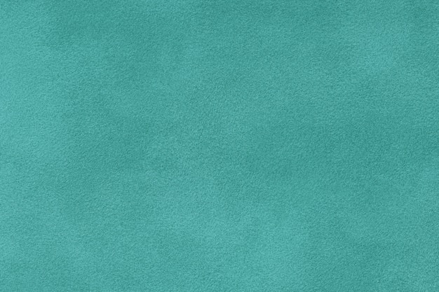 Primo piano del tessuto scamosciato opaco turchese