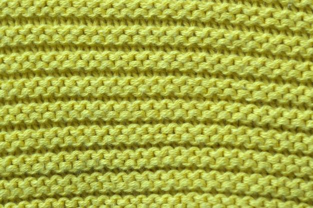 Primo piano del tessuto tricottato lana a macchina