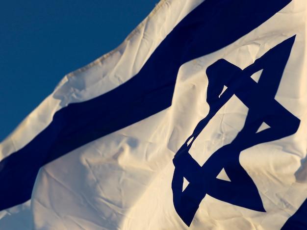 Primo piano della bandiera israeliana, israele