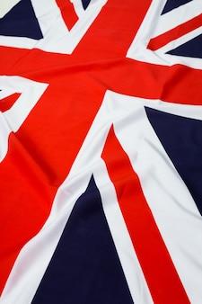 Primo piano della bandiera union jack