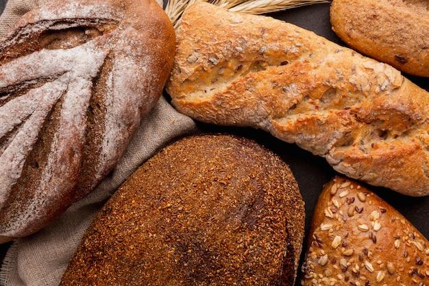 Primo piano della crosta di pane