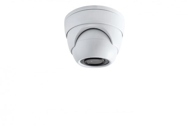 Primo piano della macchina fotografica del cctv. sistema di sicurezza.