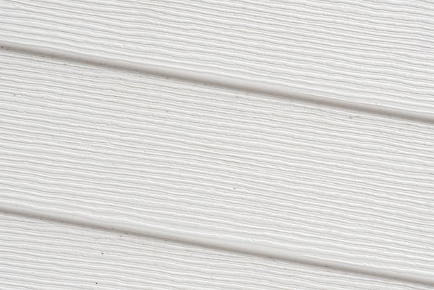 Primo piano della parete di legno bianca