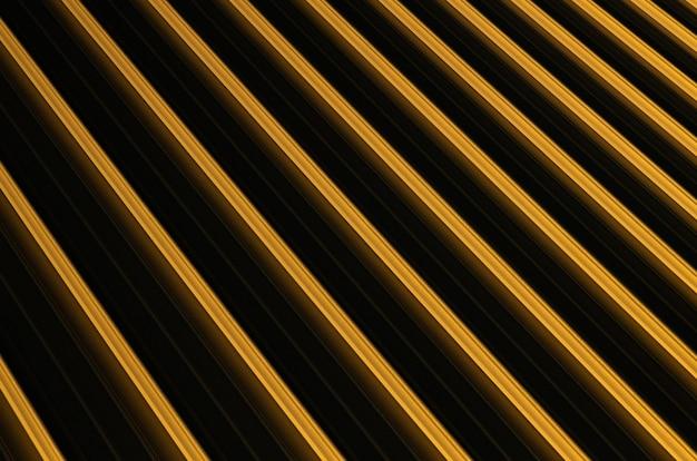 Primo piano della superficie nervata giallo-nera che causa illusione ottica