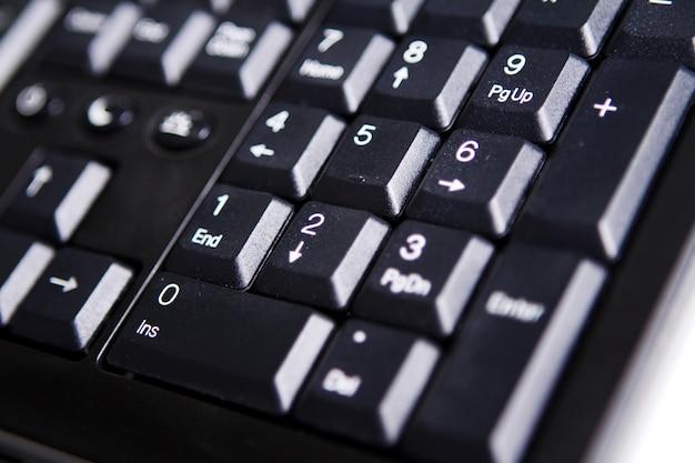 Primo piano della tastiera