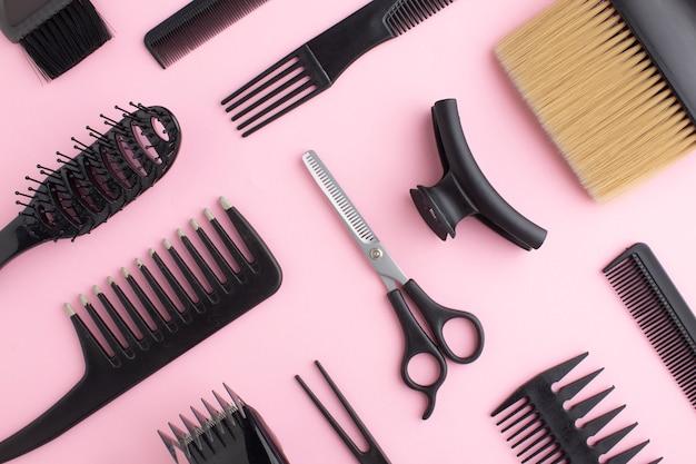 Primo piano di attrezzature per capelli