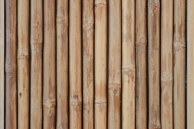 Primo piano di bambù di legno per fondo e struttura.