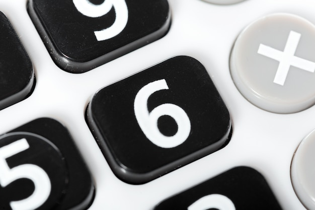Primo piano di calcolatrice