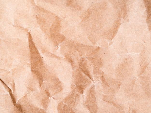 Primo piano di carta sgualcito del fondo