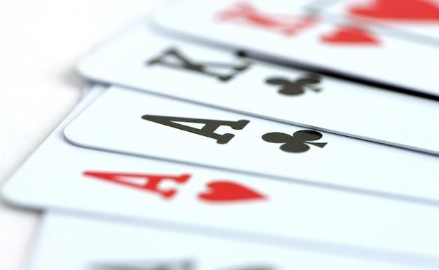 Primo piano di carte da poker