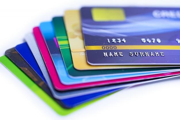 Primo piano di carte di credito
