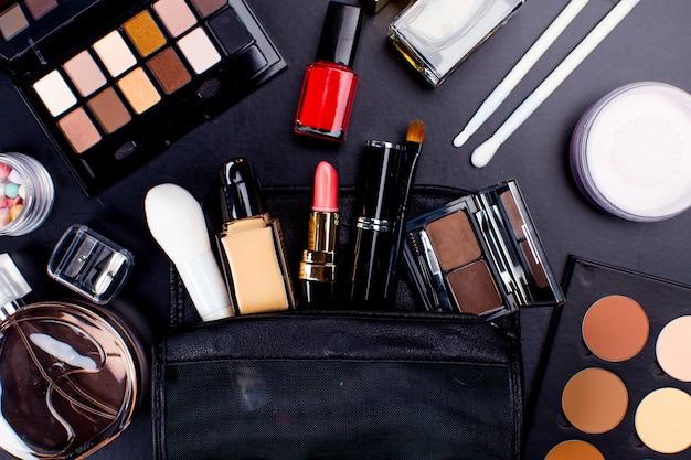 Primo piano di cosmetici