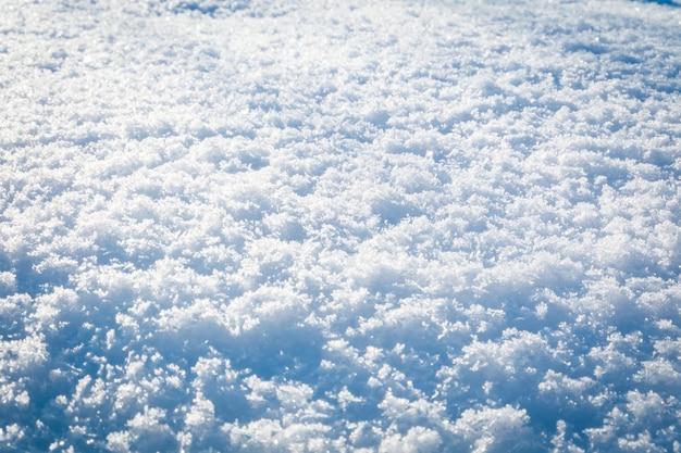 Primo piano di cumulo di neve