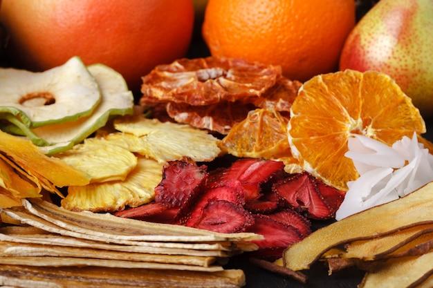 Primo piano di frutta secca