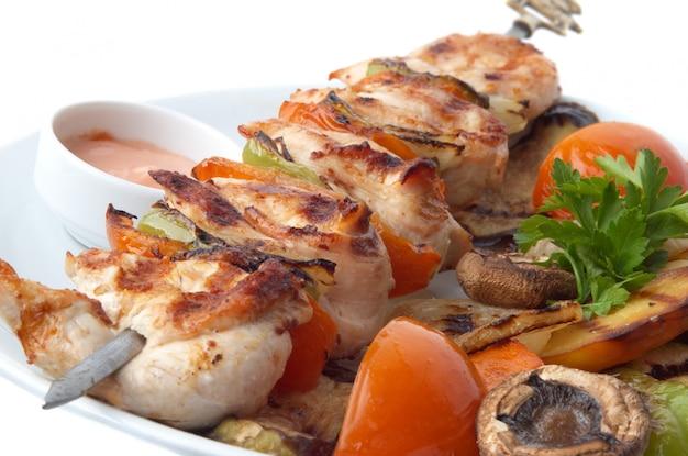 Primo piano di kebab