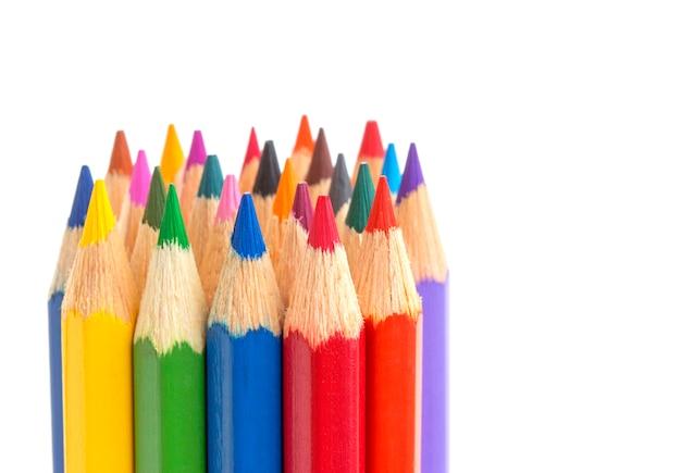 Primo piano di matite colorate