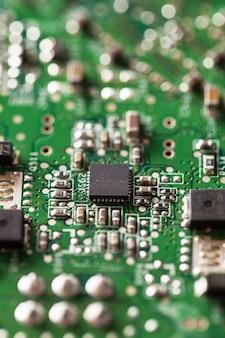 Primo piano di parti di computer