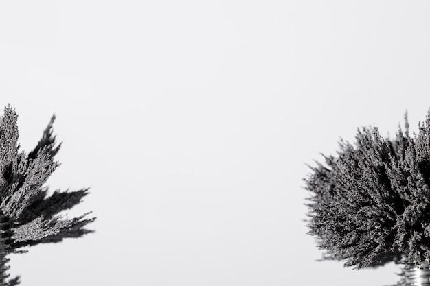 Primo piano di rasatura metallico su sfondo bianco con spazio di copia