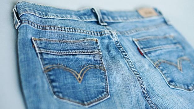 Primo piano di struttura del denim dei jeans