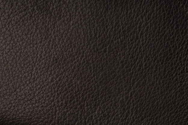 Primo piano di struttura di cuoio nera senza cuciture