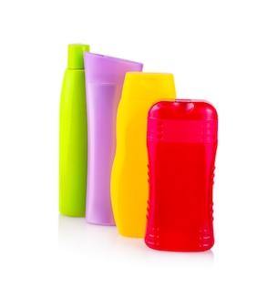 Primo piano di un colore bottiglie