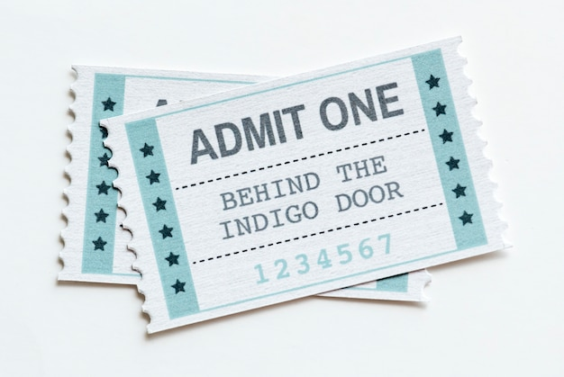 Primo piano di un concetto di spettacolo biglietto spettacolo intrattenimento