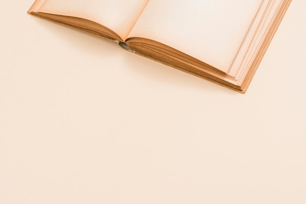 Primo piano di un libro aperto