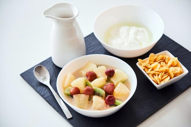 Primo piano di una sana colazione