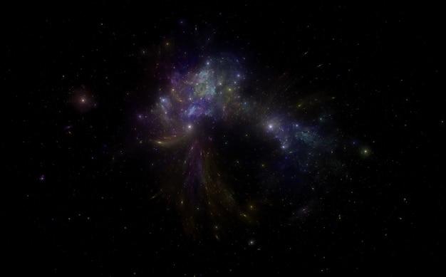 Primo piano di uno sfondo di campo stellare