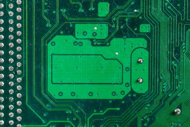 Primo piano estremo di un circuito di computer