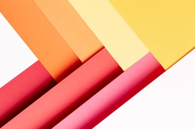 Primo piano minimalista di colori caldi del modello