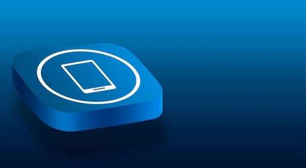Primo piano sul pulsante 3d con l'icona di un telefono