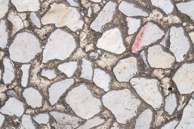 Primo piano superficie marmo vecchio pavimento in pietra texture