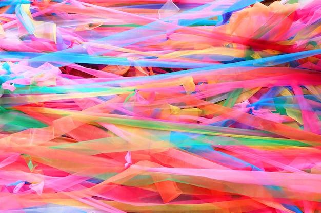 Primo piano tessuto colorato