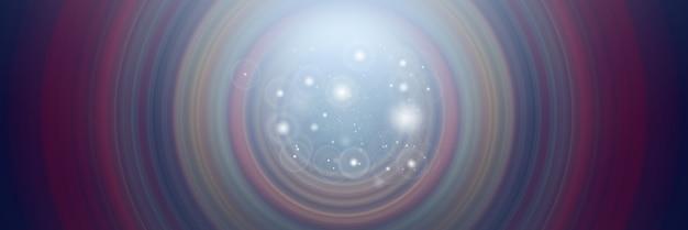 Priorità bassa astratta della sfuocatura di movimento radiale del cerchio di rotazione. sfondo per la progettazione grafica moderna e testo.