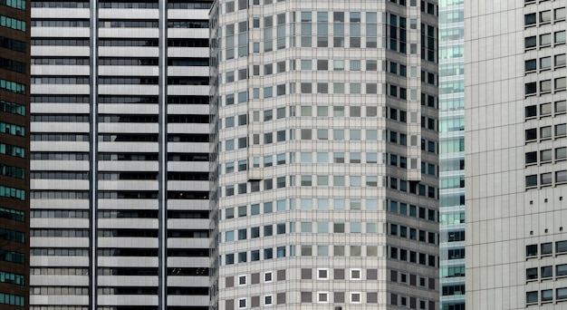 Priorità bassa astratta futuristica moderna della costruzione di vetro