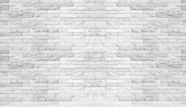 Priorità bassa bianca astratta del muro di mattoni. concetto di sfondo texture modello di muro vuoto
