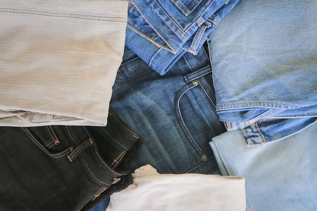 Priorità bassa blu di struttura dei jeans del denim