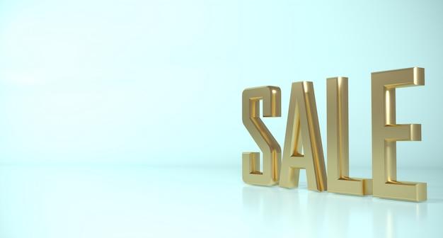 Priorità bassa chiara di vendita dell'oro di parola 3d