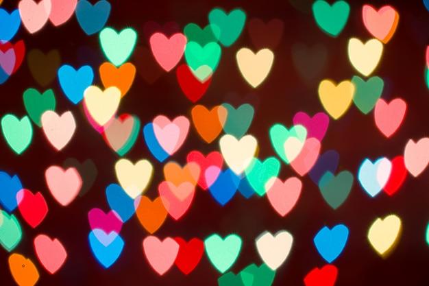 Priorità bassa del bokeh del cuore. san valentino sullo sfondo