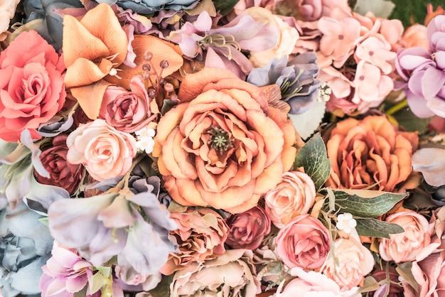 Priorità bassa del fiore - stile effetto vintage