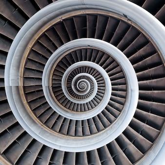 Priorità bassa dell'estratto di spirale del motore dell'aereo di aria.