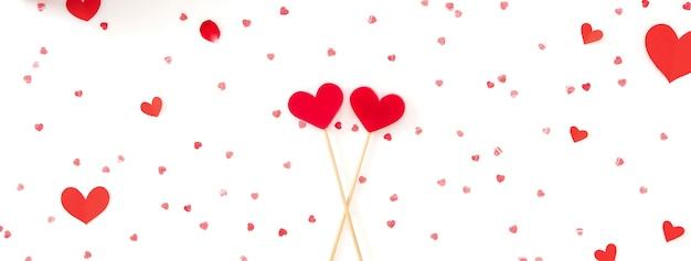 Priorità bassa della bandiera di san valentino, matrimonio e amore