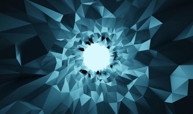 Priorità bassa della caverna di cristallo dell'estratto basso dell'illustrazione poli 3d