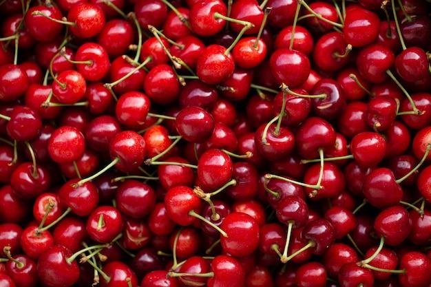 Priorità bassa della ciliegia - bacche mature dolci rosse