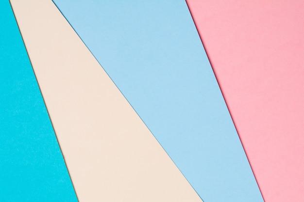 Priorità bassa di carta colorata creativa astratta. disteso